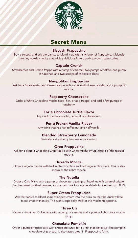 Secret Starbucks Menu Why Can T This Have 0 Calorie Sugar Carb Yumminess On It Ugh