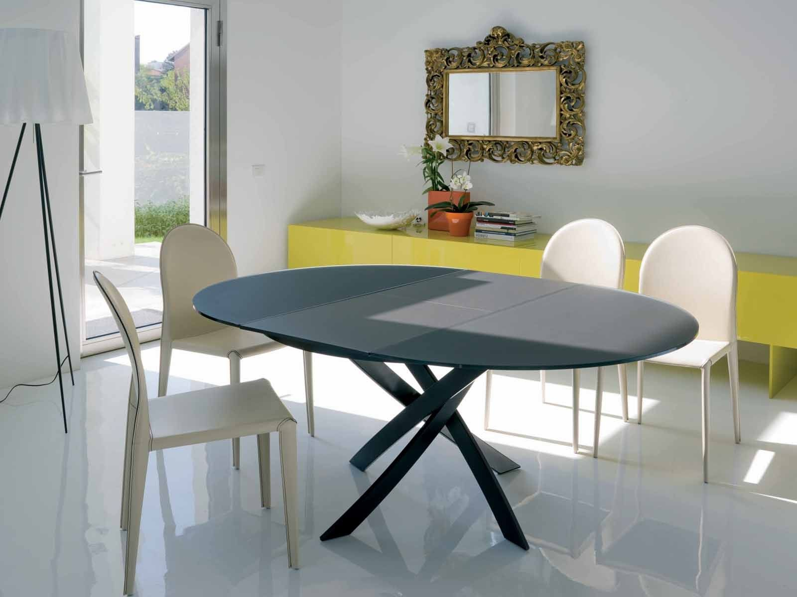 Barone Extensible Table Round Dining Table Modern Round Dining Table Expandable Round Dining Table