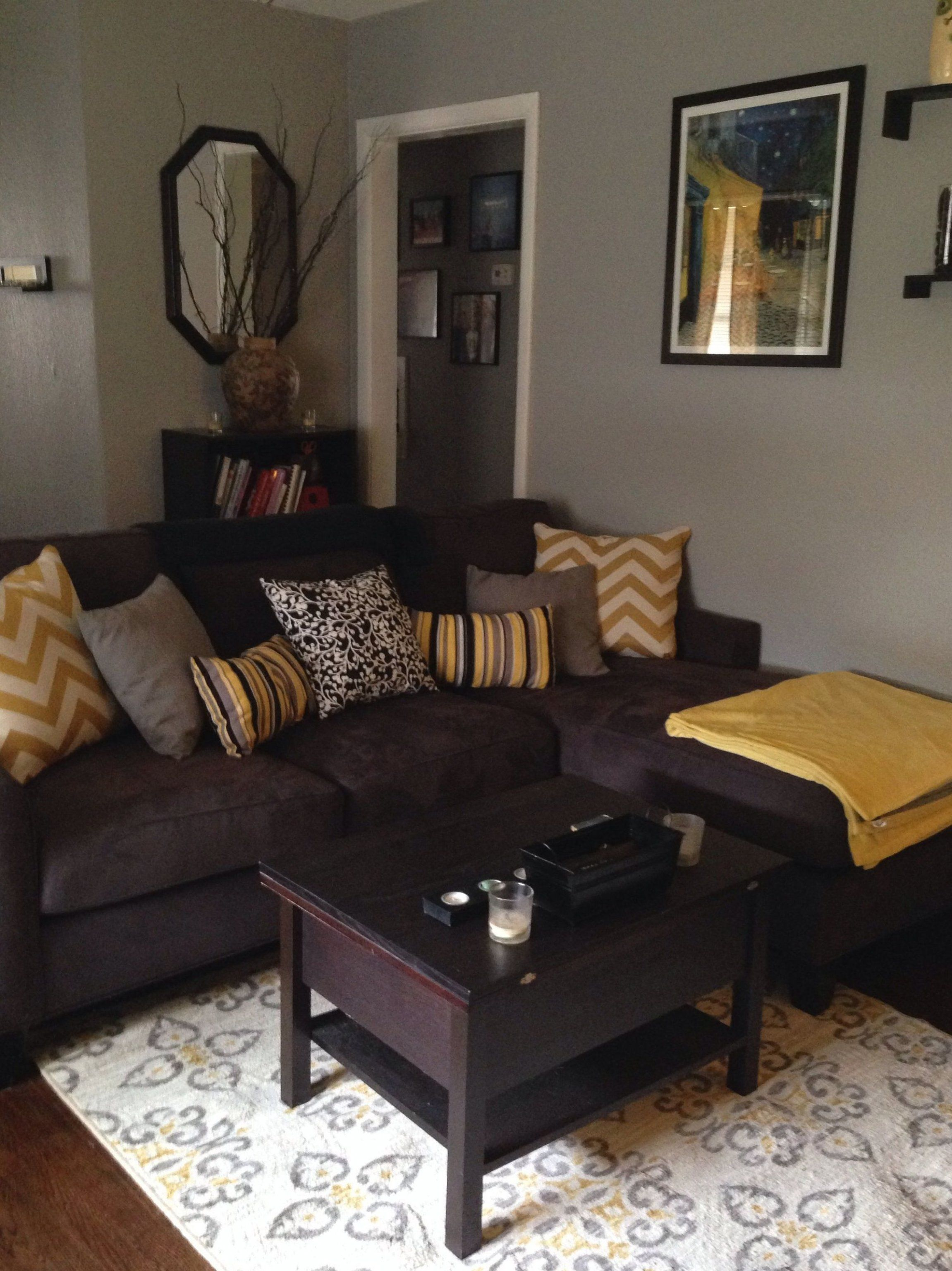 Living Room Ideas With Brown Couch 2019 Living Room Ideas With Brown Couch Living Room Idea In 2020 Brown Living Room Decor Brown Sofa Living Room Yellow Living Room