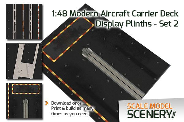 1 48 Scale Modern Aircraft Carrier Display Plinth For Displaying Scale Model Aircraft Each Plinth Is 380x255x6mm Download Print Onto 20 Modell Modellbau Bau