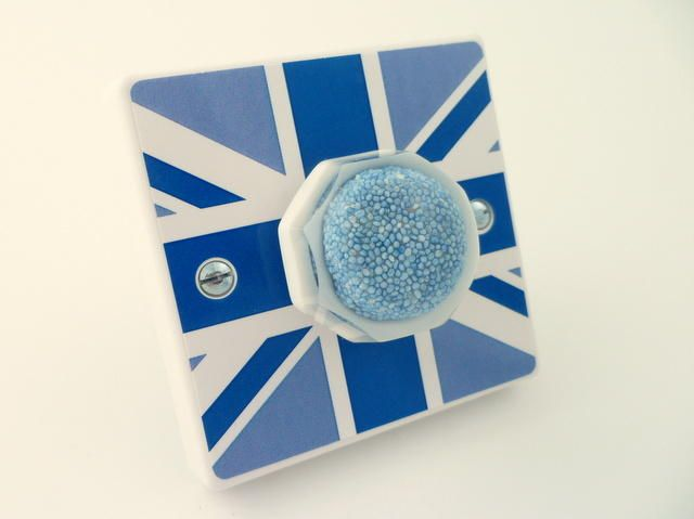 Funky Blue British Flag Allsorts Light Switch or Dimmer Switch - Handmade by Candy Queen Designs