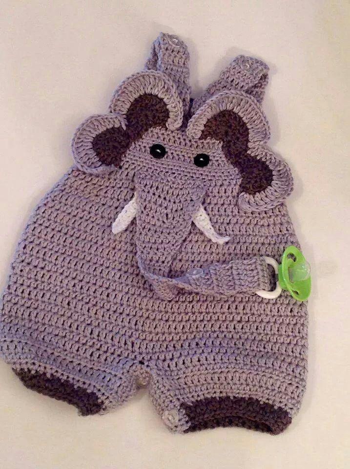 Sloník - kalhotky | Crochet | Pinterest | Babykleidchen, Gestricktes ...