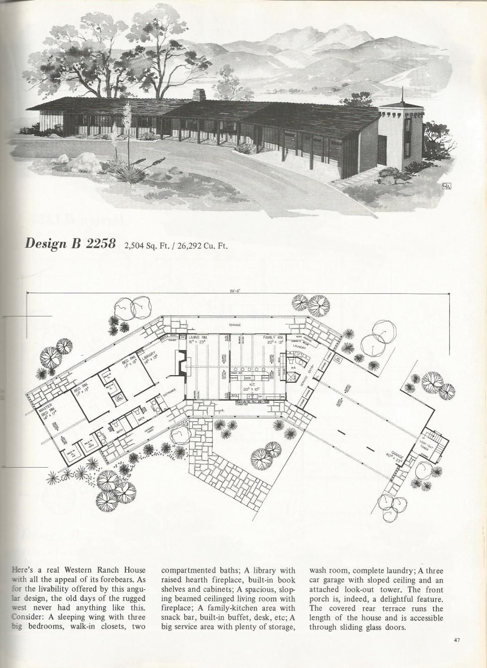 These Are Beautiful Vintage House Plans That Are Efficient Spacious And Full Of Memories Vintage House Plans Mid Century Modern House Plans Ranch House Plans