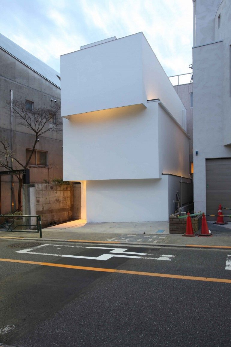 Obi House Is A Minimalist House Located In Tokyo Japan Designed By