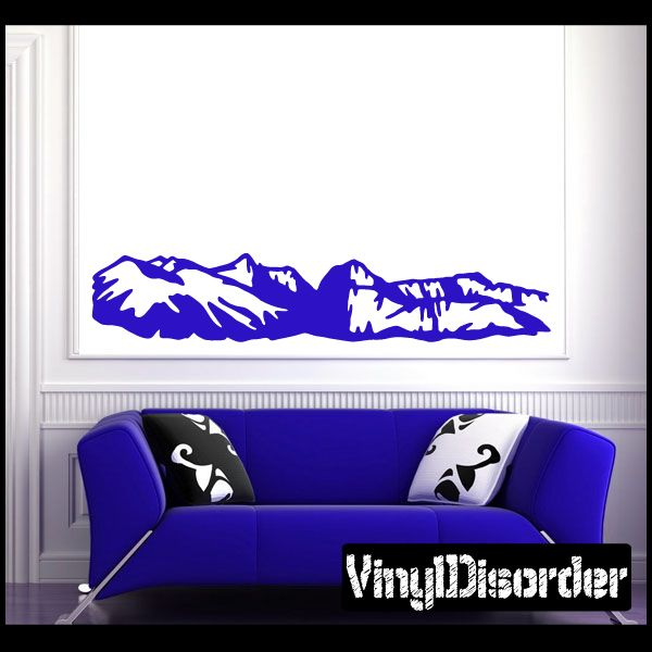 Mountain Wall Decal - Vinyl Decal - Car Decal - NS102