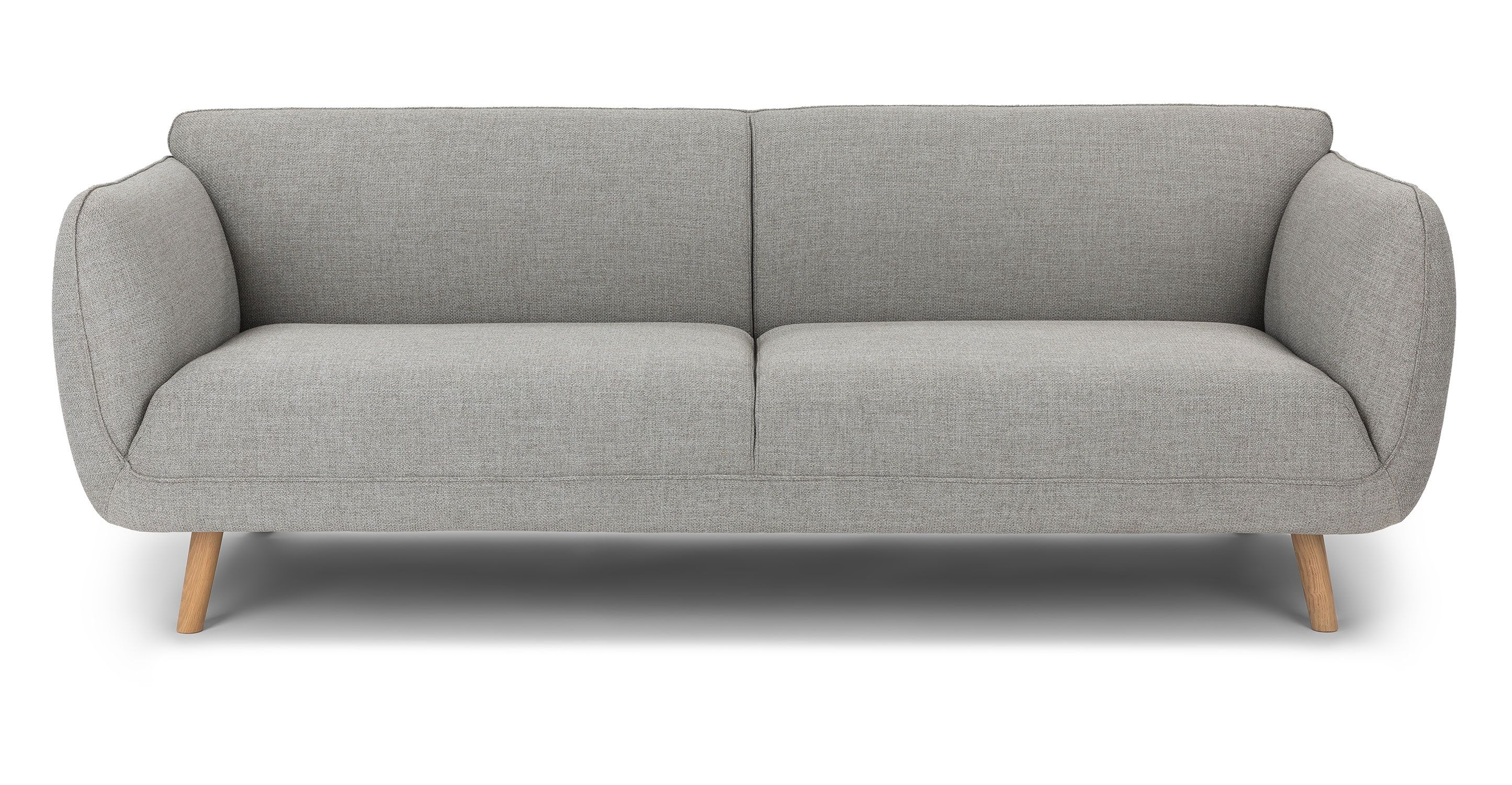 gray fabric sofa 3 seat solid wood legs article haro modern rh pinterest co kr