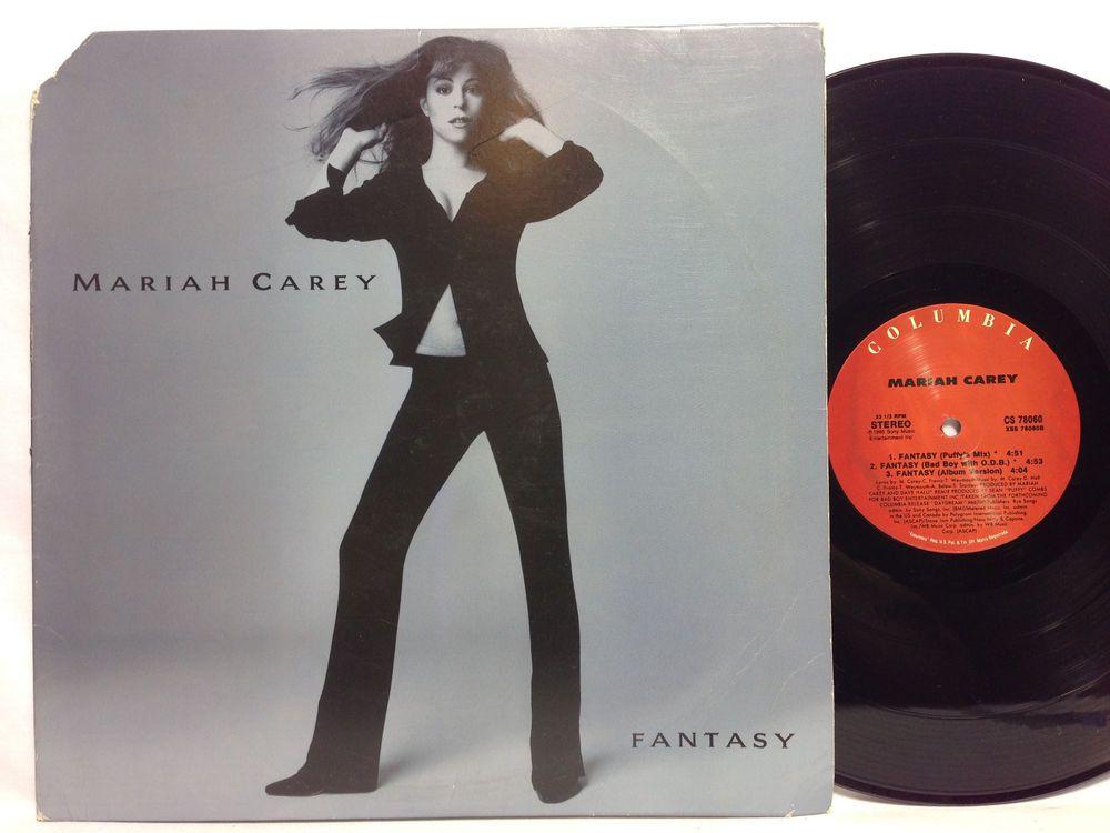 Mariah Carey Fantasy 1995 Us Gatefold Jacket Original Lp Vinyl Record Vinyl Records Lp Vinyl Mariah Carey