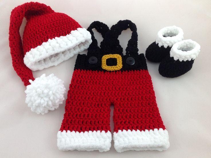 88644175a Baby Santa Outfit - Crochet Santa Suit - Newborn Santa Outfit - Baby ...