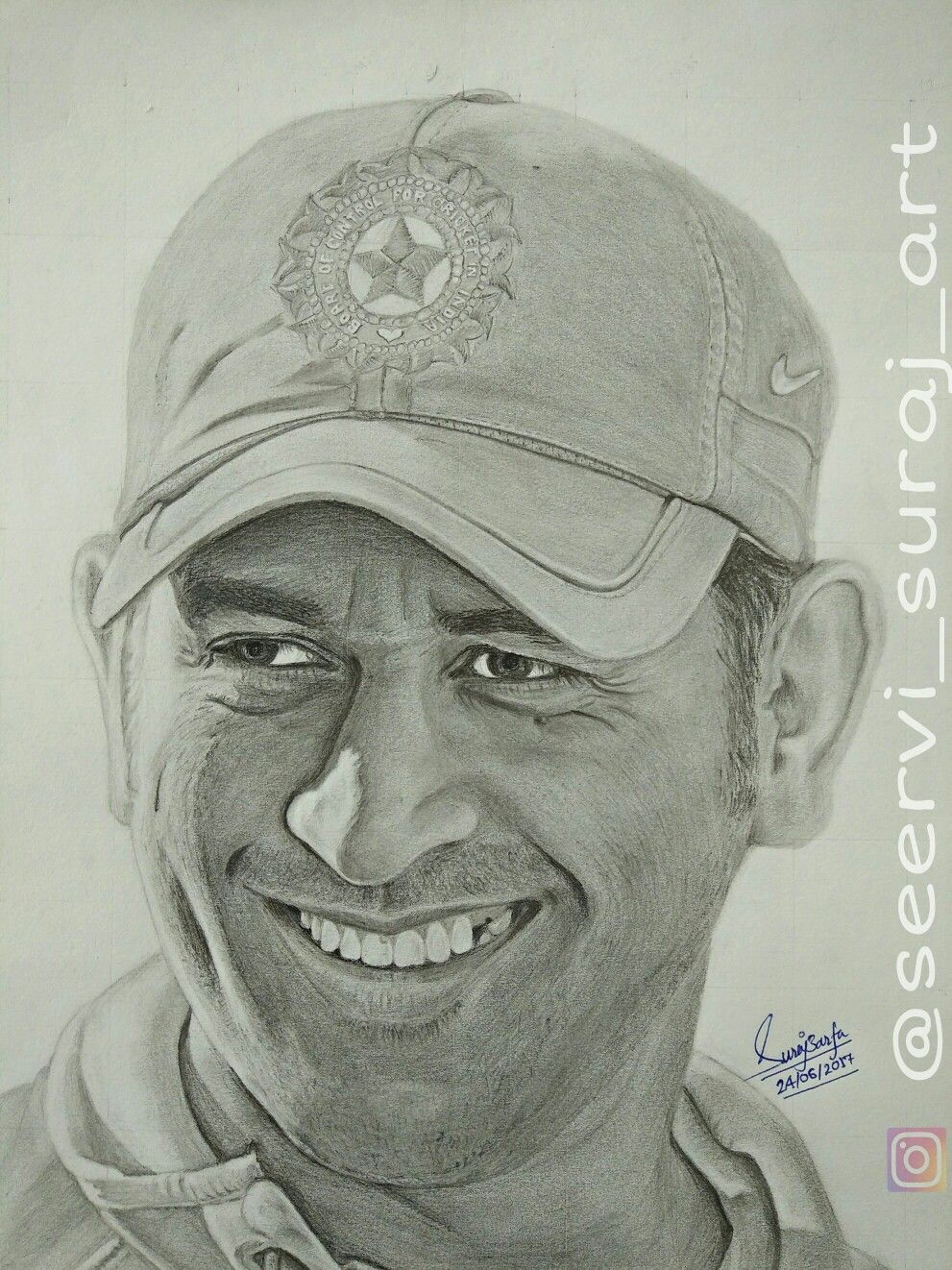 Ms dhoni sketch by me ig seervi suraj art