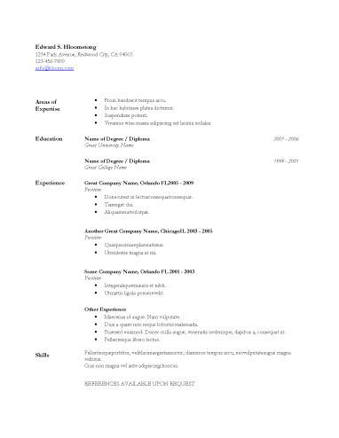 Bare Bones Minimalistic Resumes and Cover Letters Pinterest