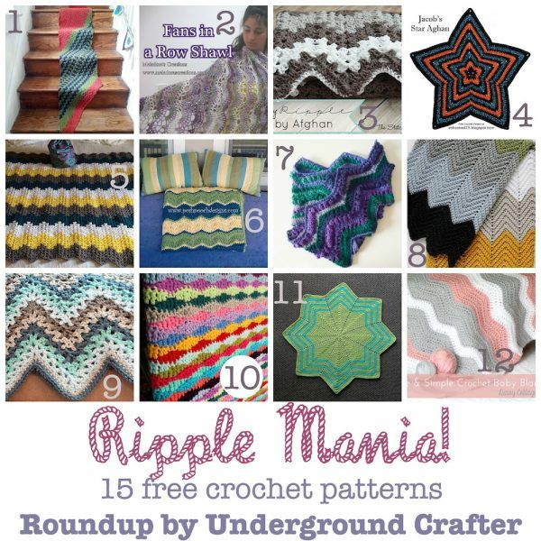 Roundup: 15 free crochet patterns featuring ripples, chevrons, and ...