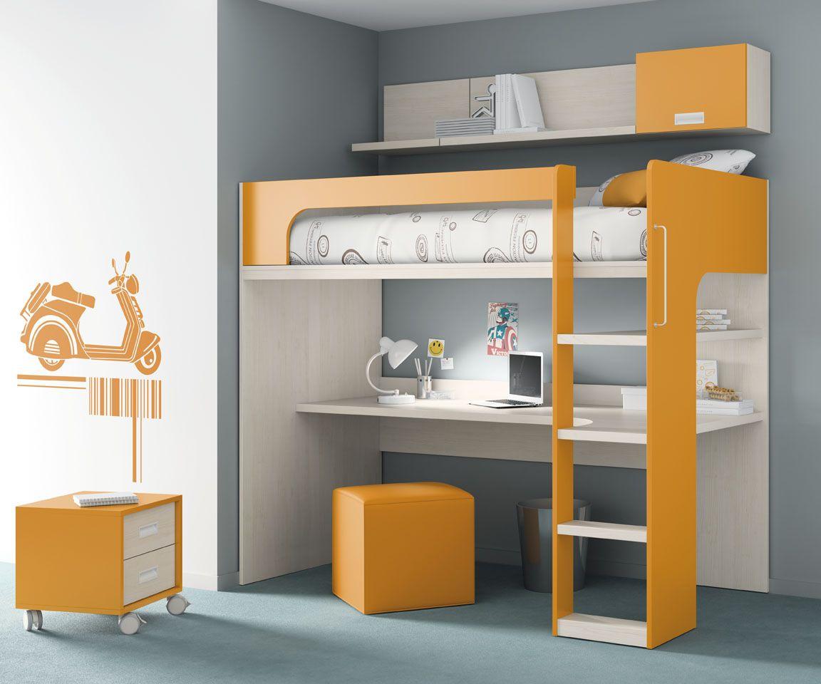 Habitaci n infantil del cat logo de mueble juvenil kids - Literas con escritorio abajo ...