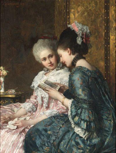 A Shared Moment -Joseph Scheurenberg (1846-1914)