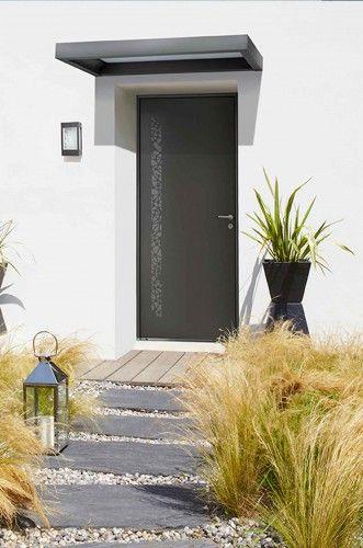 belm porte aluminium topaze avec marquise clairante. Black Bedroom Furniture Sets. Home Design Ideas
