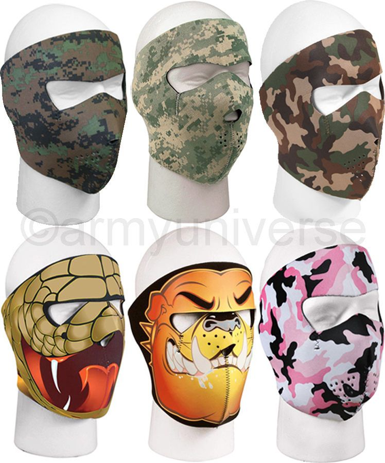 ArmyUniverse Adjustable Outdoor Neoprene Reversible Full Face Mask   FaceMask  FullMask  CamoMask  DesignMask 8a91f45520f