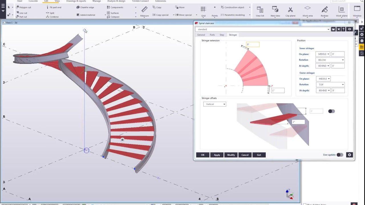 Best Spiral Staircase 2 Recent Steel Development In Tekla 400 x 300