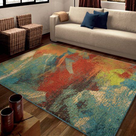 Orian Rugs Bright Color Abstract Once Multi Area Rug Multicolor