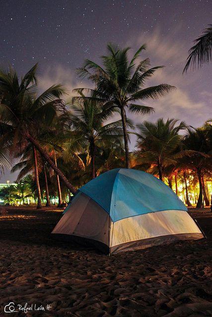 Es Hermoso Acampar En La Playa Fotografia Rafa Leon Acampar En