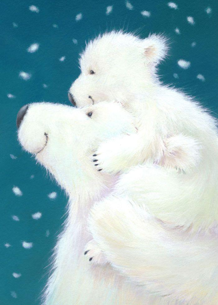 Картинки с мишкой белым, гифка коллажи