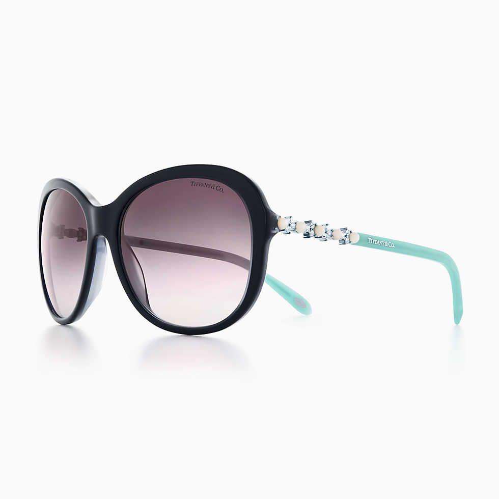 c703c76c1b6 Tiffany Aria adagio round sunglasses in sapphire and Tiffany Blue acetate.