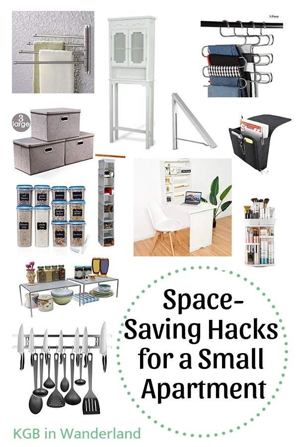 Space-Saving Hacks for a Small Apartment | Space saving ...