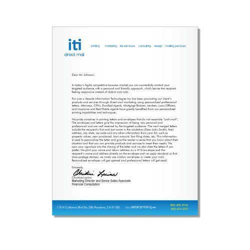 Letterhead Design Simple Iti Direct Mail Head Example Free Sample