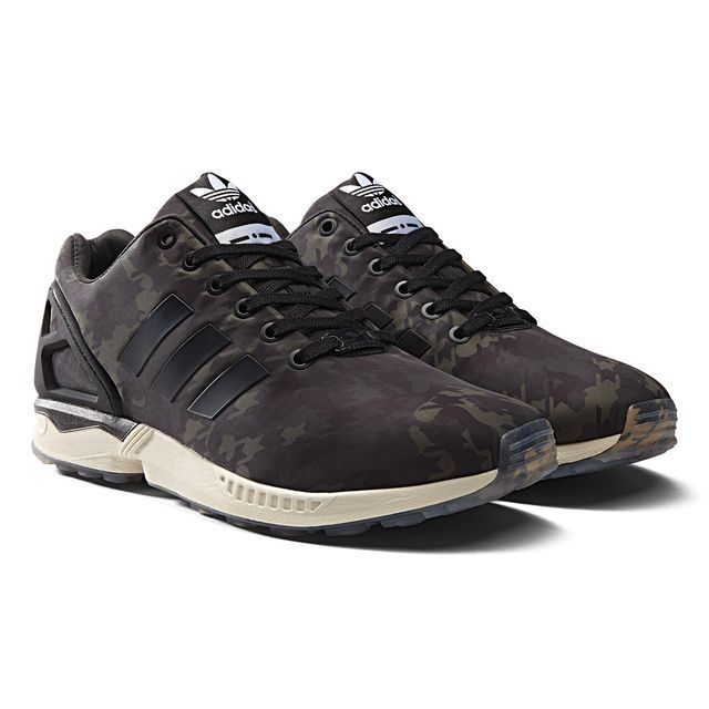 pretty nice 9d679 1c319 adidas - ZX Flux Schoenen Night Cargo   Black   Chalk White B32742