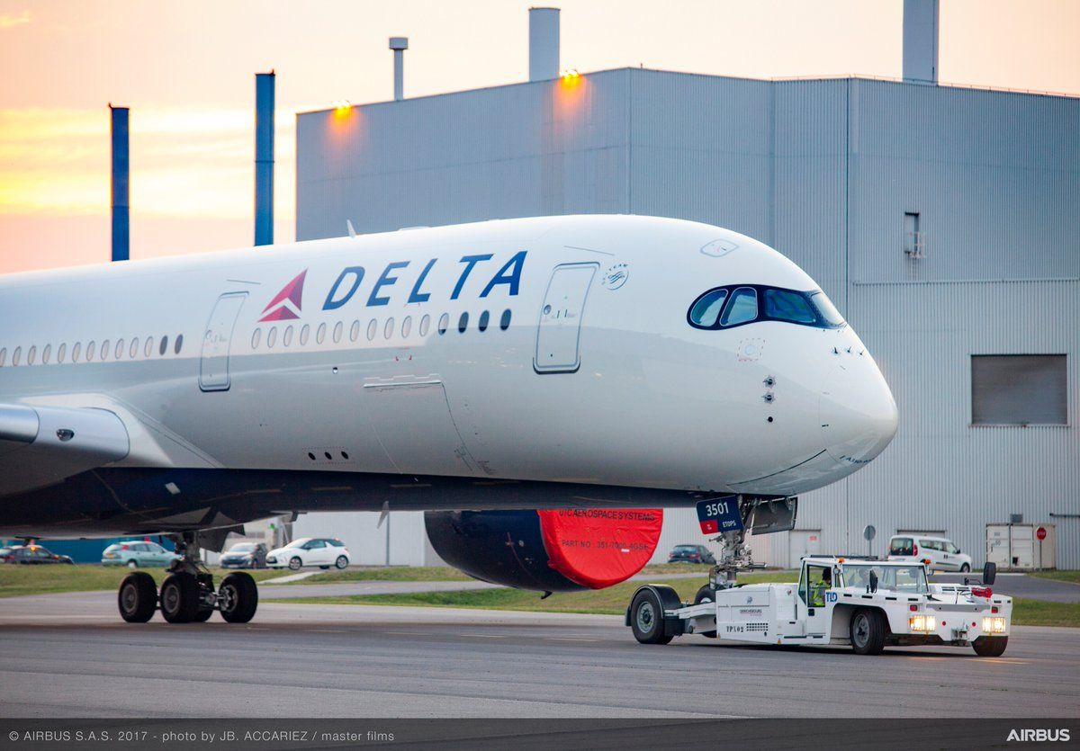 Delta Airlines Airbus A350. Delta airlines, Delta