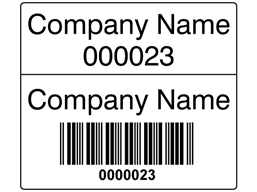 Scanmark Dual Barcode Label Black Text 26mm X 30mm Barcode Labels Labels Sticker Labels