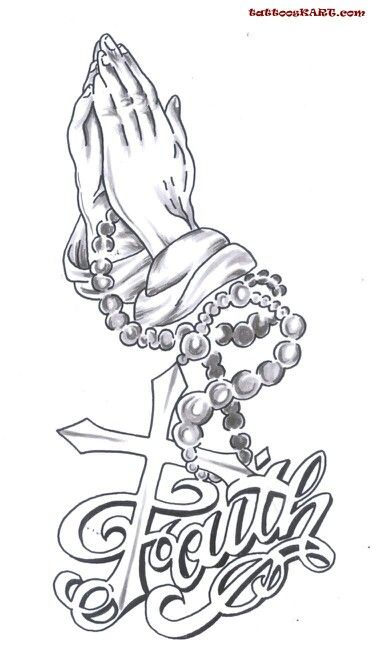 6e933c83151fb Virgin mary cross Praying Hands With Rosary, Praying Hands Drawing, Faith Tattoo  Designs,