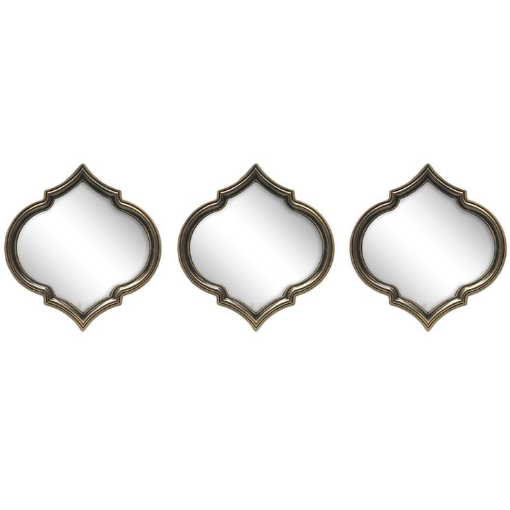 Accent Mirror 3pc Set Accent Mirror Living Room Accent Mirrors Mirror