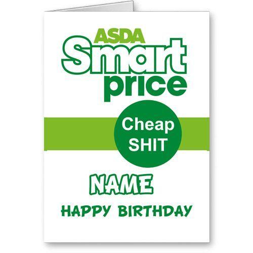 Personalised Asda Price Novelty Birthday Card Birthday Cards Cards Birthday
