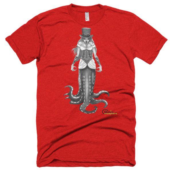 #IndieAuthors #SteamPunk  #IARTG  Genevieve Steampunk Short sleeve soft t-shirt £20.00–£21.00  http://www.outsidetheexosphere.biz/product/genevieve-steampunk-t-shirt/