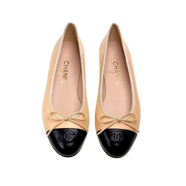 3d968dfc5152 Chanel signature cap toe ballet flats beige and black lambskin leather size  36.5 brand new with dustbags asking  440 comment for more information or to  ...