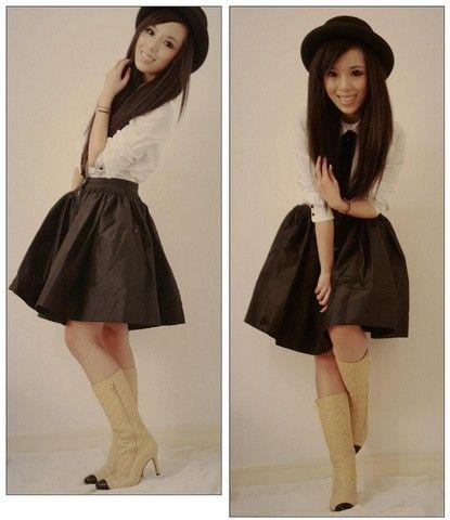 #polo #hat #skirt #boots Luella, Luella, Chanel