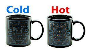 Moddan Pac Man Magic Coffee Mugs Cup Ceramic Heat Sensitive Color Changing - Pac-Man Coffee Mug Gift