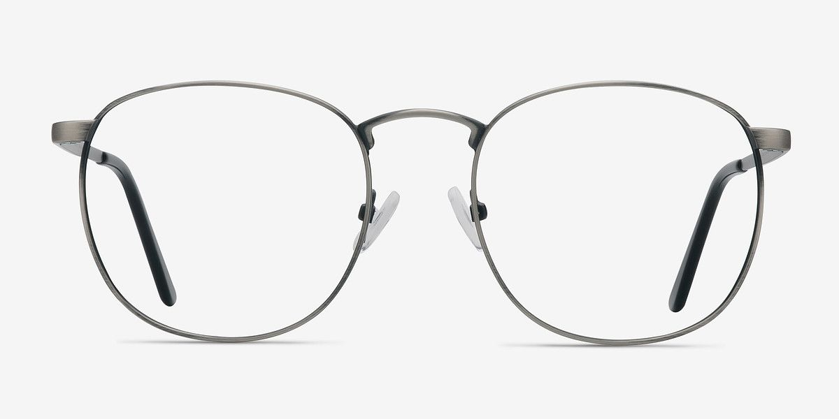 77f54048cf St Michel Gunmetal Metal Eyeglasses from EyeBuyDirect. Discover exceptional  style