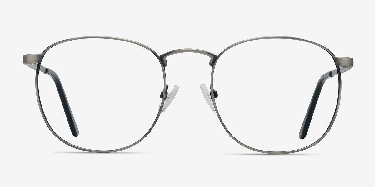 St Michel Round Gunmetal Frame Eyeglasses Eyebuydirect In 2020