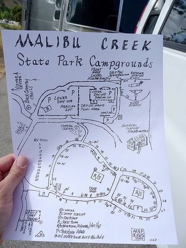 Camping at Malibu Creek State Park  Site 5 was nice big and
