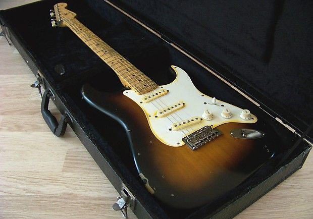 Tpp Eric Clapton Brownie Tribute Stratocaster The Painted Player Guitar Co Reverb Fender American Vintage Eric Clapton Guitar