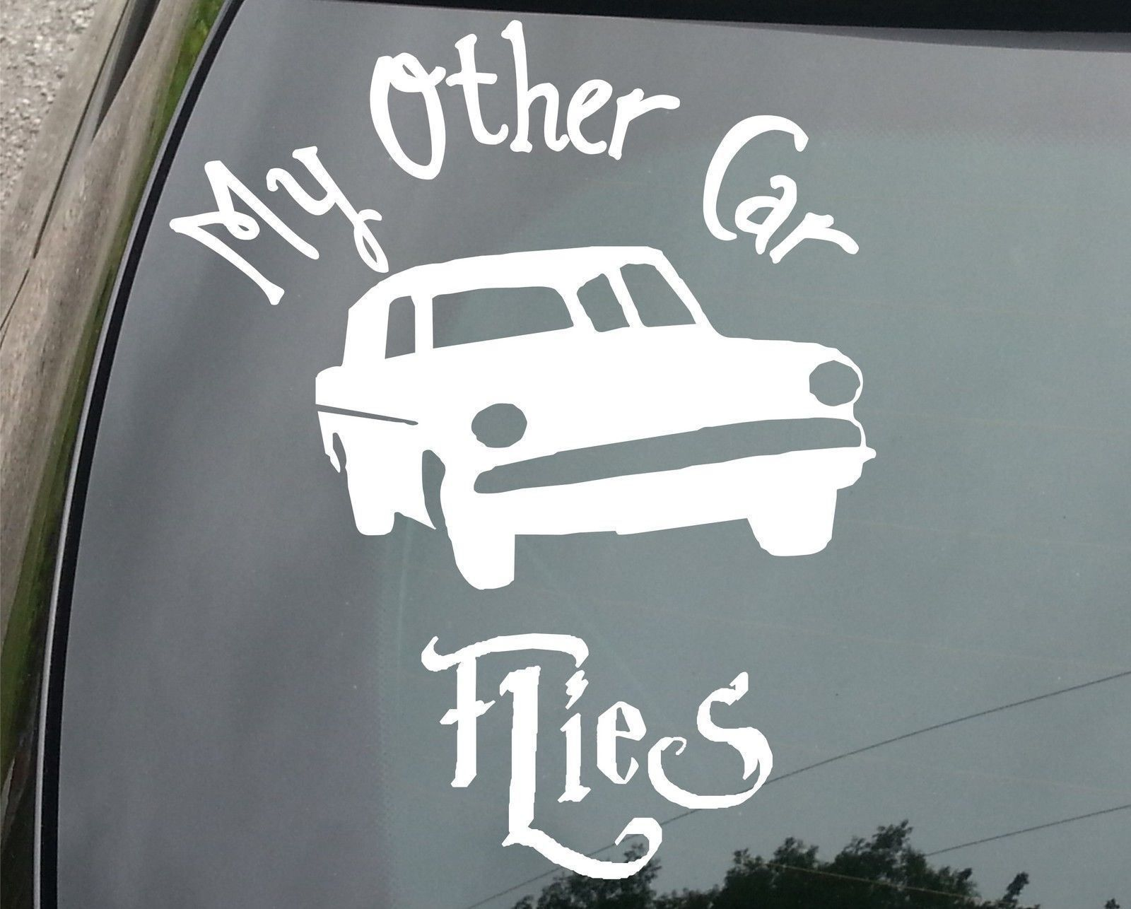 My other car flies harry potter funny car decal sticker chamber of secrets