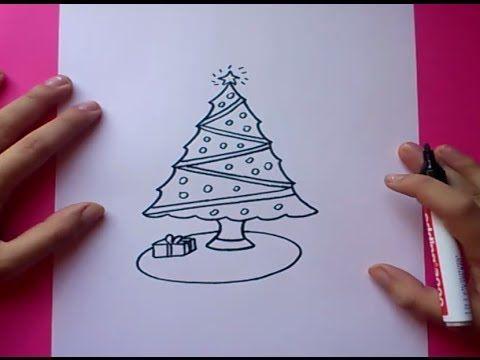 Como dibujar un arbol de navidad paso a paso How to draw a