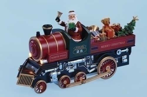 Amusements Lighted Musical North Pole Express Santa Claus Train Christmas Figure. #SantaClaus #Santa #Claus #Christmas  #Figurine #Decor #Gift #gosstudio .★ We recommend Gift Shop: http://www.zazzle.com/vintagestylestudio ★