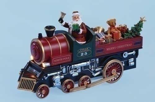 Amusements Lighted Musical North Pole Express Santa Claus Train Christmas Figure. #SantaClaus #Santa #Claus #Christmas  #Figurine #Decor #Gift #gosstudio .★ We recommend Gift Shop: http://www.zazzle.com/vintagestylestudio ★
