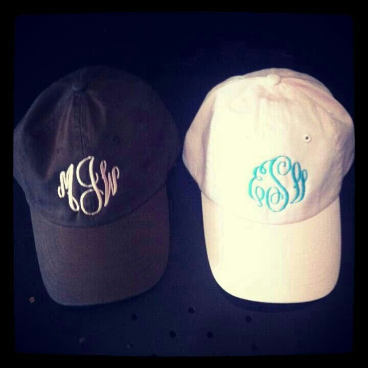 Navy Blue Monogrammed Hat by LEmbroideryAndDesign on Etsy Wan to order the  same look  Infinity monogram font with white thread  d72b53ef9a6a