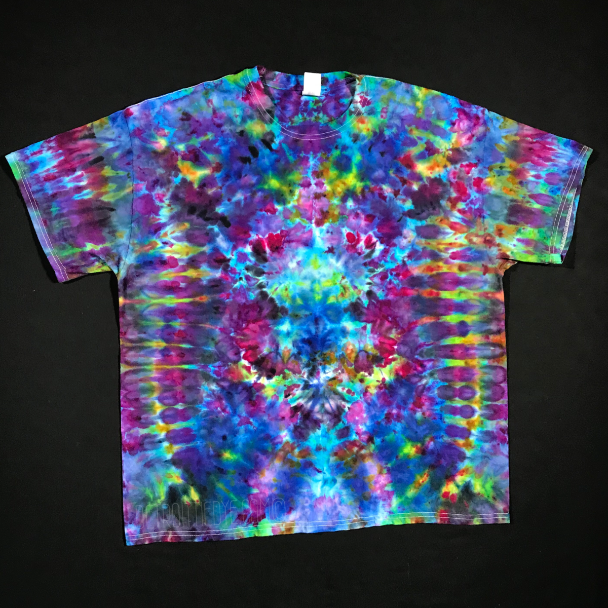 88e818c2e738 Size 2XL Psychedelic Symmetry Ice Dye T-Shirt – Detroit Tie Dye Co.