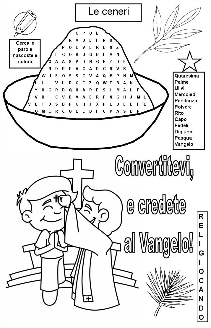 Mercoled delle ceneri le sacre ceneri catechistico - Artigianato per cristiani ...
