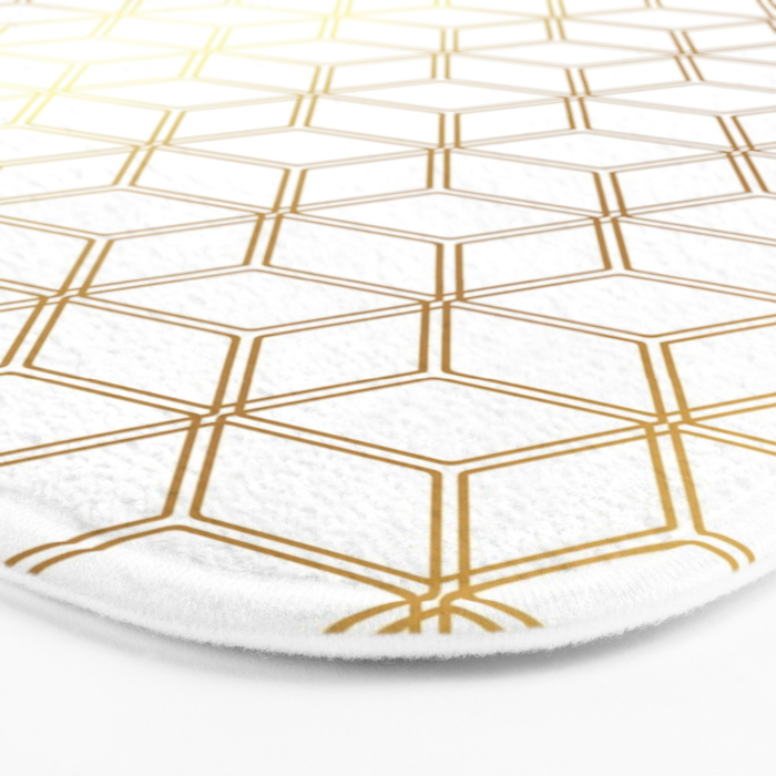 Hive Mind Gold 298 Bath Mat By Natural Collective Co