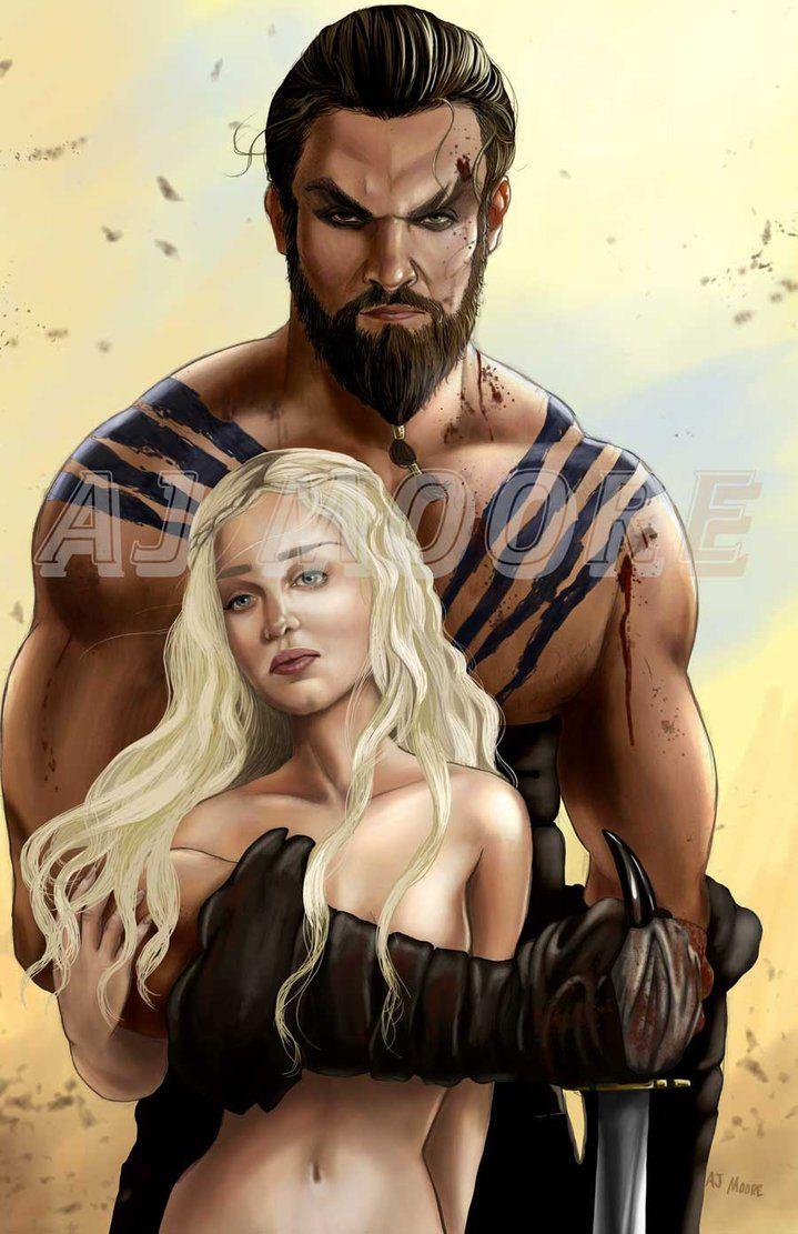 Daenerys targaryen and khal drogo wallpaper daenerys targaryen wedding - Khal Drogo Daenerys Targaryen Khaleesi Aj Moore By Gudfit On Deviantart