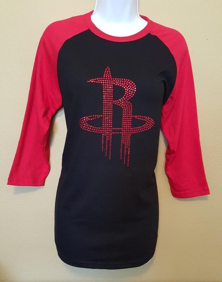 dfc4a7b021 Houston Rockets Vintage Raglan T-Shirt